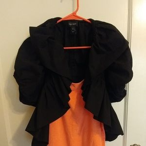 Karen Kane ruffled black shrug xs